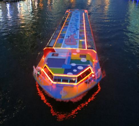 光の水都ルネサンスボート2017 アート観光船「ハタポップライナー」
